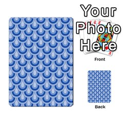 Awesome Retro Pattern Blue Multi-purpose Cards (Rectangle)