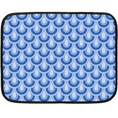 Awesome Retro Pattern Blue Fleece Blanket (Mini)