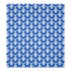Awesome Retro Pattern Blue Shower Curtain 66  x 72  (Large)