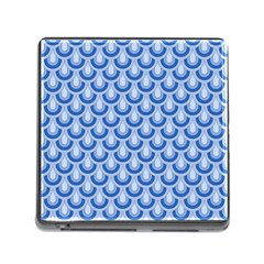 Awesome Retro Pattern Blue Memory Card Reader (square)