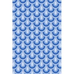 Awesome Retro Pattern Blue 5 5  X 8 5  Notebooks