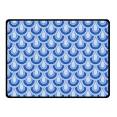 Awesome Retro Pattern Blue Fleece Blanket (Small)