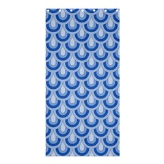 Awesome Retro Pattern Blue Shower Curtain 36  X 72  (stall)