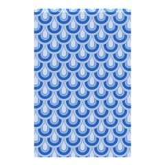 Awesome Retro Pattern Blue Shower Curtain 48  x 72  (Small)