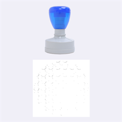 Awesome Retro Pattern Blue Rubber Round Stamps (medium)