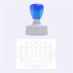 Awesome Retro Pattern Blue Rubber Oval Stamps