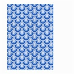 Awesome Retro Pattern Blue Small Garden Flag (two Sides)