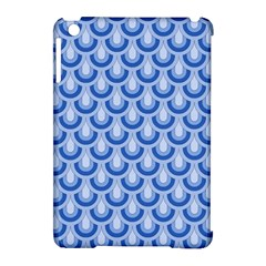 Awesome Retro Pattern Blue Apple Ipad Mini Hardshell Case (compatible With Smart Cover)