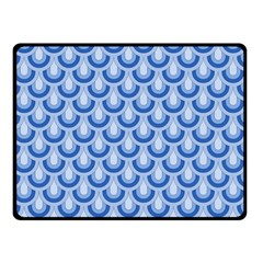 Awesome Retro Pattern Blue Double Sided Fleece Blanket (small)