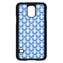 Awesome Retro Pattern Blue Samsung Galaxy S5 Case (black)