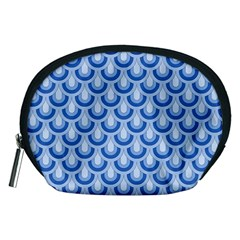 Awesome Retro Pattern Blue Accessory Pouches (medium)