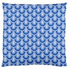 Awesome Retro Pattern Blue Large Flano Cushion Cases (one Side)