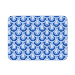Awesome Retro Pattern Blue Double Sided Flano Blanket (mini)