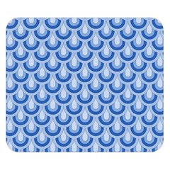 Awesome Retro Pattern Blue Double Sided Flano Blanket (Small)