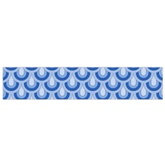 Awesome Retro Pattern Blue Flano Scarf (small)
