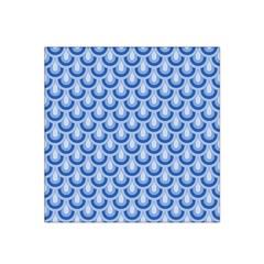 Awesome Retro Pattern Blue Satin Bandana Scarf
