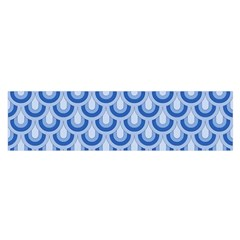 Awesome Retro Pattern Blue Satin Scarf (Oblong)