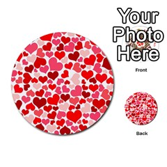 Heart 2014 0937 Multi-purpose Cards (Round)