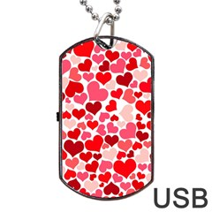 Heart 2014 0937 Dog Tag USB Flash (Two Sides)