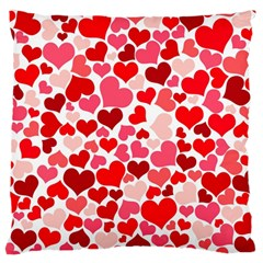 Heart 2014 0937 Large Flano Cushion Cases (two Sides)
