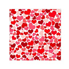 Heart 2014 0937 Small Satin Scarf (square)