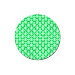 Awesome Retro Pattern Green Magnet 3  (round)