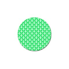 Awesome Retro Pattern Green Golf Ball Marker (10 Pack)