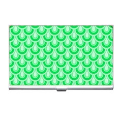 Awesome Retro Pattern Green Business Card Holders