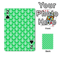 Awesome Retro Pattern Green Playing Cards 54 Designs
