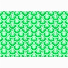 Awesome Retro Pattern Green Collage 12  x 18