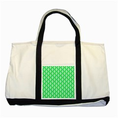 Awesome Retro Pattern Green Two Tone Tote Bag