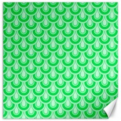 Awesome Retro Pattern Green Canvas 20  X 20