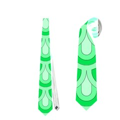 Awesome Retro Pattern Green Neckties (One Side)