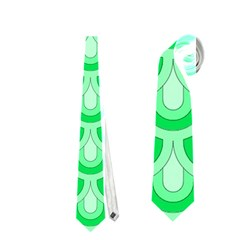 Awesome Retro Pattern Green Neckties (Two Side)