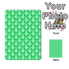 Awesome Retro Pattern Green Multi Purpose Cards (rectangle)