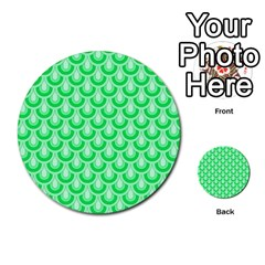 Awesome Retro Pattern Green Multi-purpose Cards (Round)
