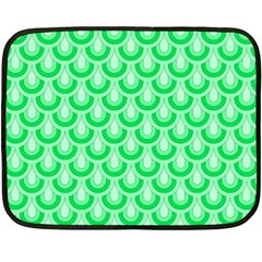 Awesome Retro Pattern Green Fleece Blanket (mini)