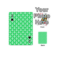 Awesome Retro Pattern Green Playing Cards 54 (Mini)