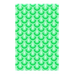 Awesome Retro Pattern Green Shower Curtain 48  x 72  (Small)