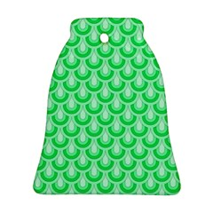 Awesome Retro Pattern Green Ornament (Bell)