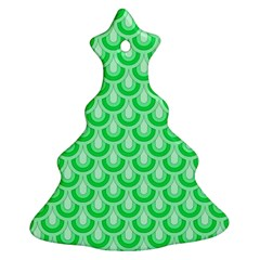 Awesome Retro Pattern Green Christmas Tree Ornament (2 Sides)