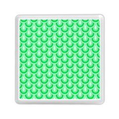 Awesome Retro Pattern Green Memory Card Reader (Square)