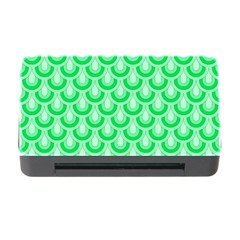 Awesome Retro Pattern Green Memory Card Reader with CF