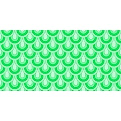 Awesome Retro Pattern Green You Are Invited 3d Greeting Card (8x4)