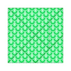 Awesome Retro Pattern Green Acrylic Tangram Puzzle (6  X 6 )