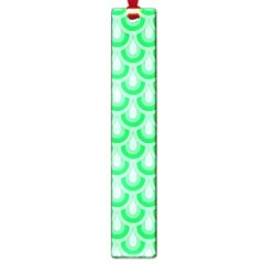 Awesome Retro Pattern Green Large Book Marks