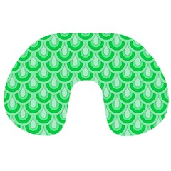 Awesome Retro Pattern Green Travel Neck Pillows