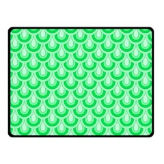 Awesome Retro Pattern Green Double Sided Fleece Blanket (Small)