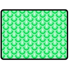 Awesome Retro Pattern Green Double Sided Fleece Blanket (Large)