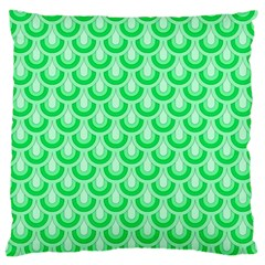 Awesome Retro Pattern Green Large Flano Cushion Cases (one Side)